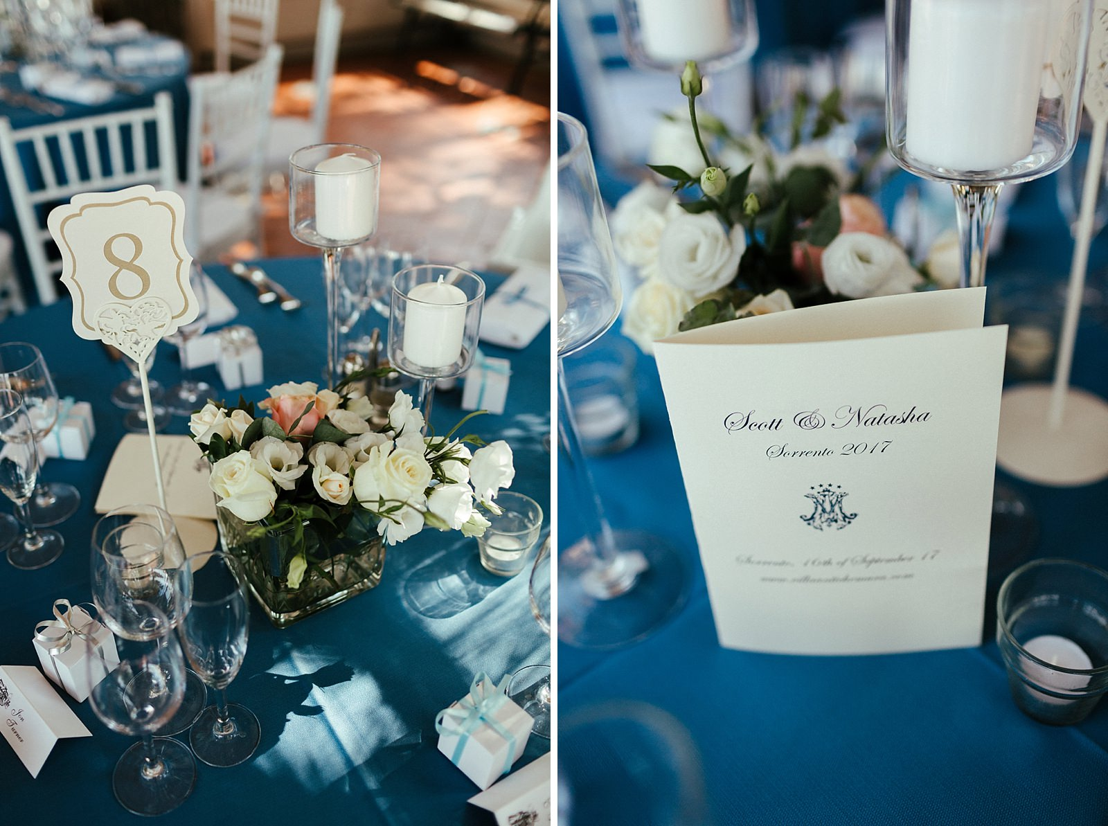 Italian wedding table decorations