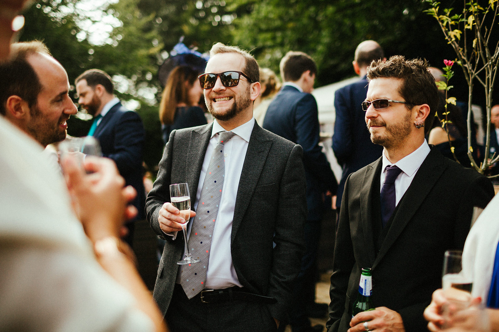Outdoor receptions drinks at Kings Chapel