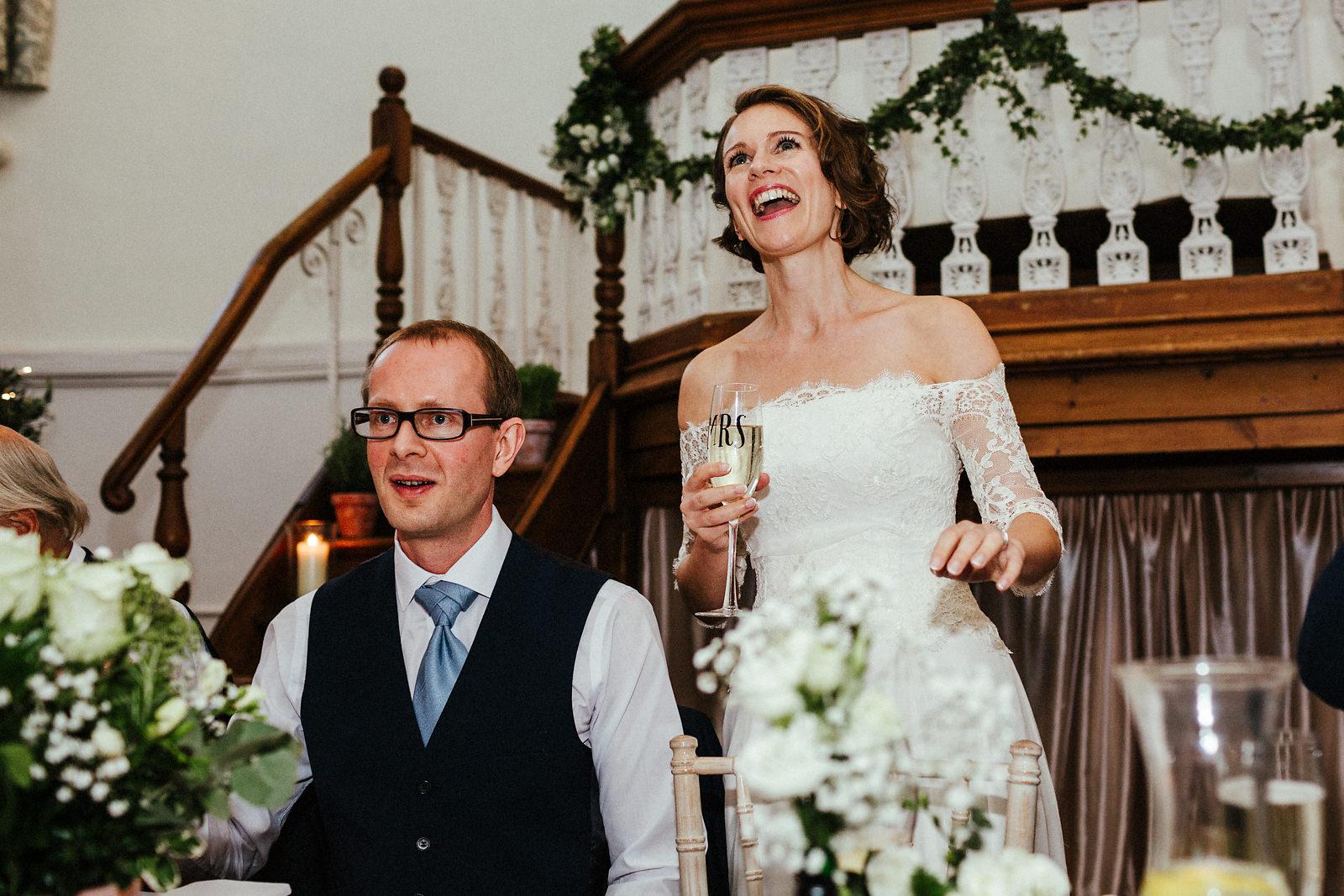 Wedding speeches at Kings Chapel