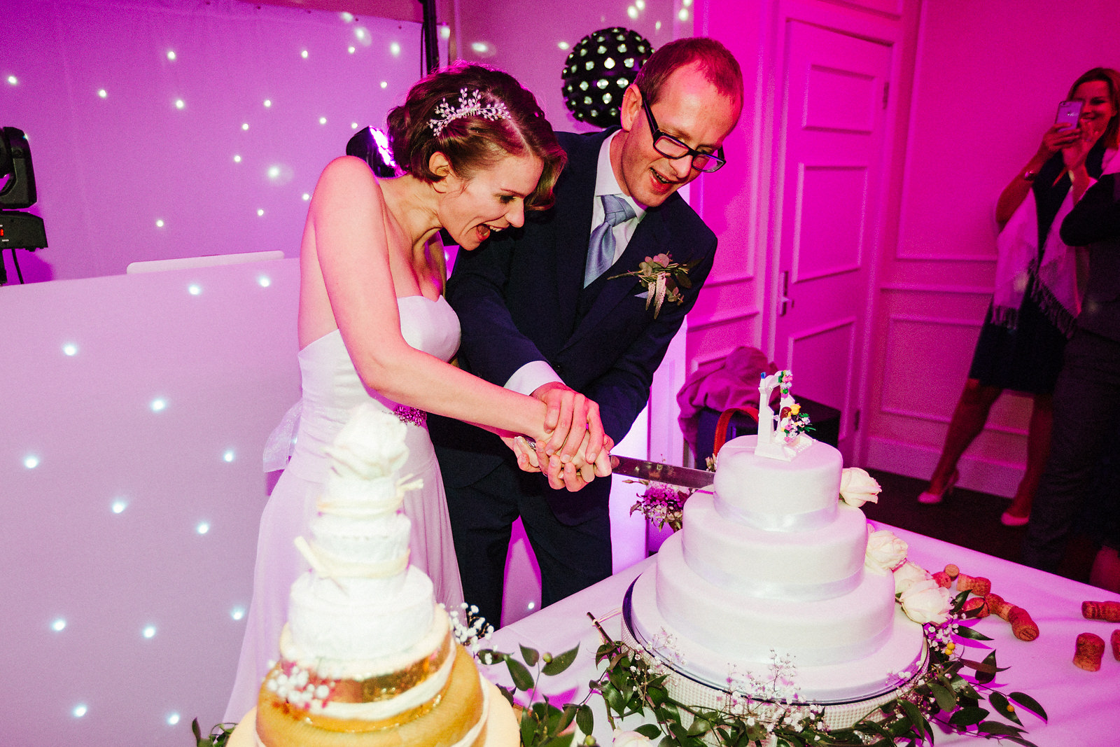Cutting the cake at Kings Chapel idea