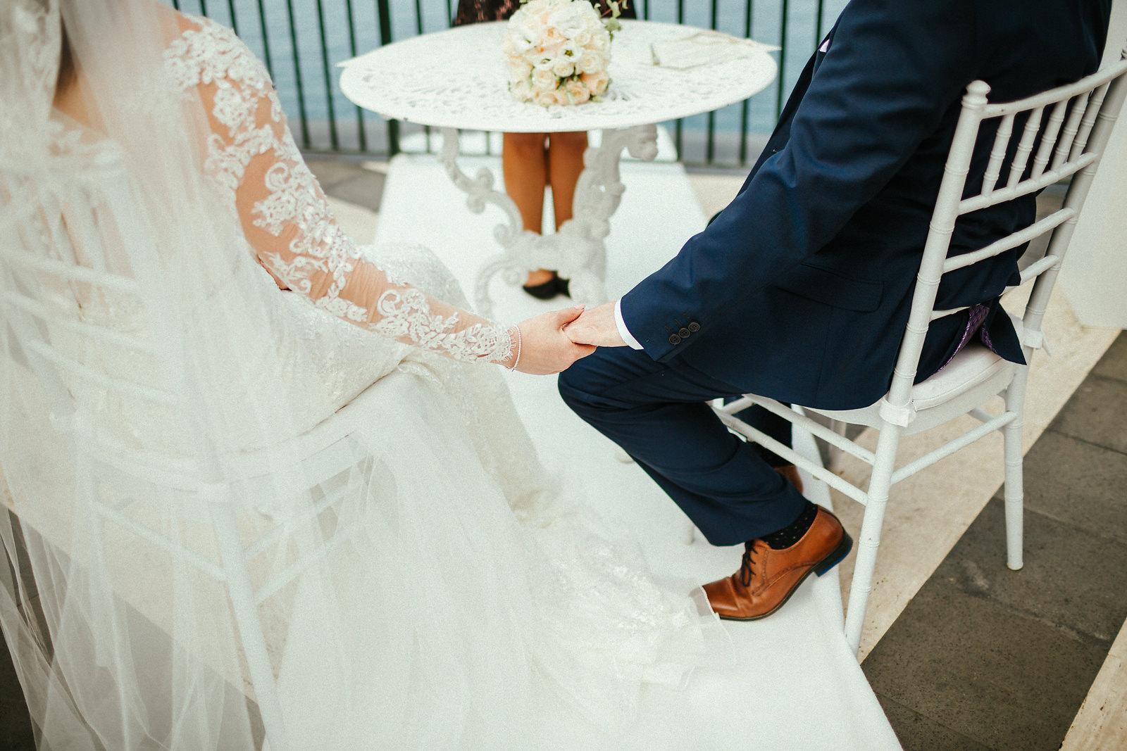 Wedding ceremony at Villa Antiche Mura photographer