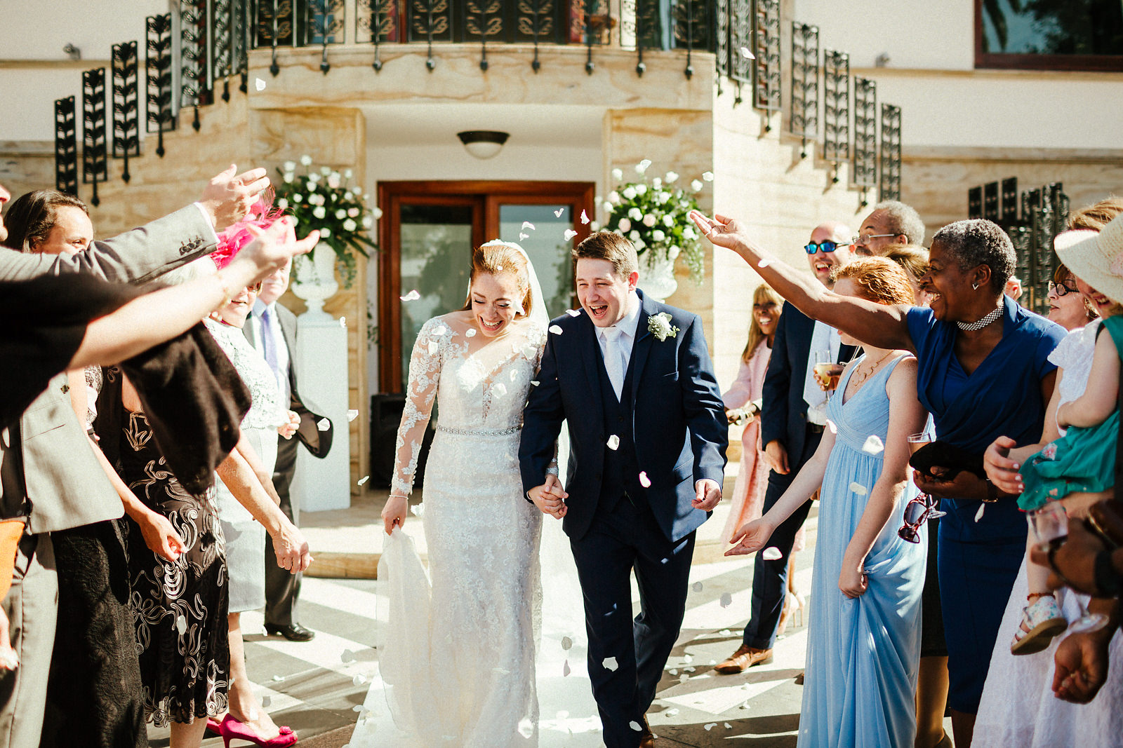 Wedding ceremony photos at Villa Antiche Mura Sorrento