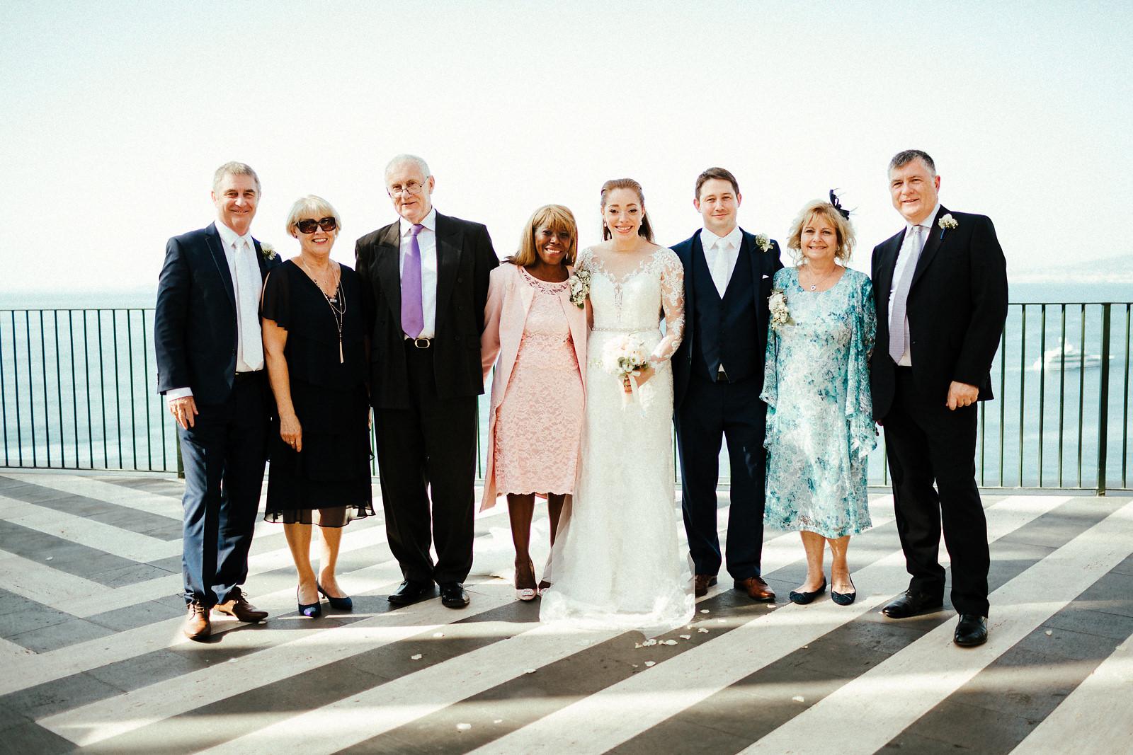 Sorrento villa wedding photography