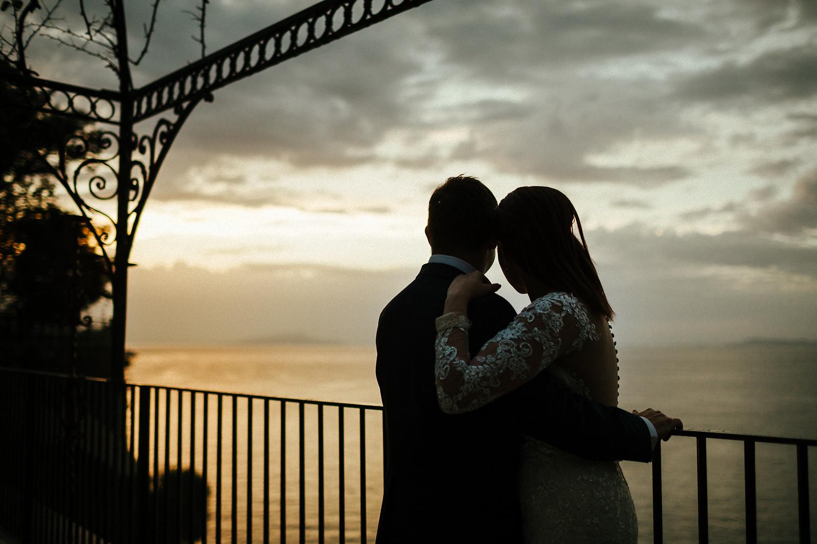 Sunset at Villa Antiche Mura wedding