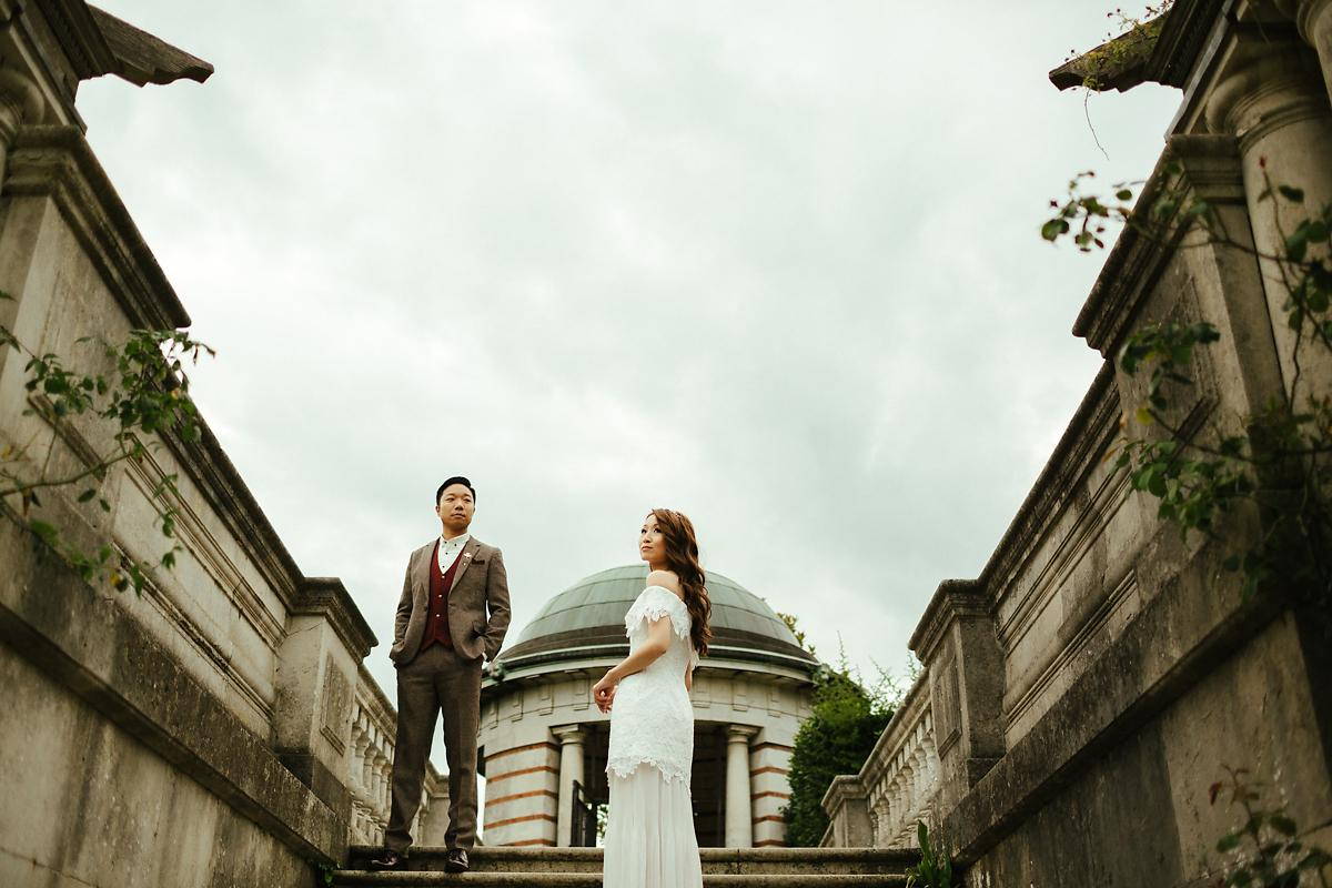 Hampstead Heath Hill Garden and Pergola Pre-wedding