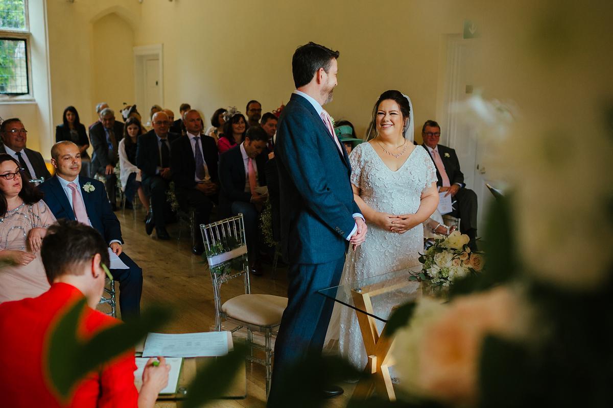 Wedding ceremony at Notely Abbey