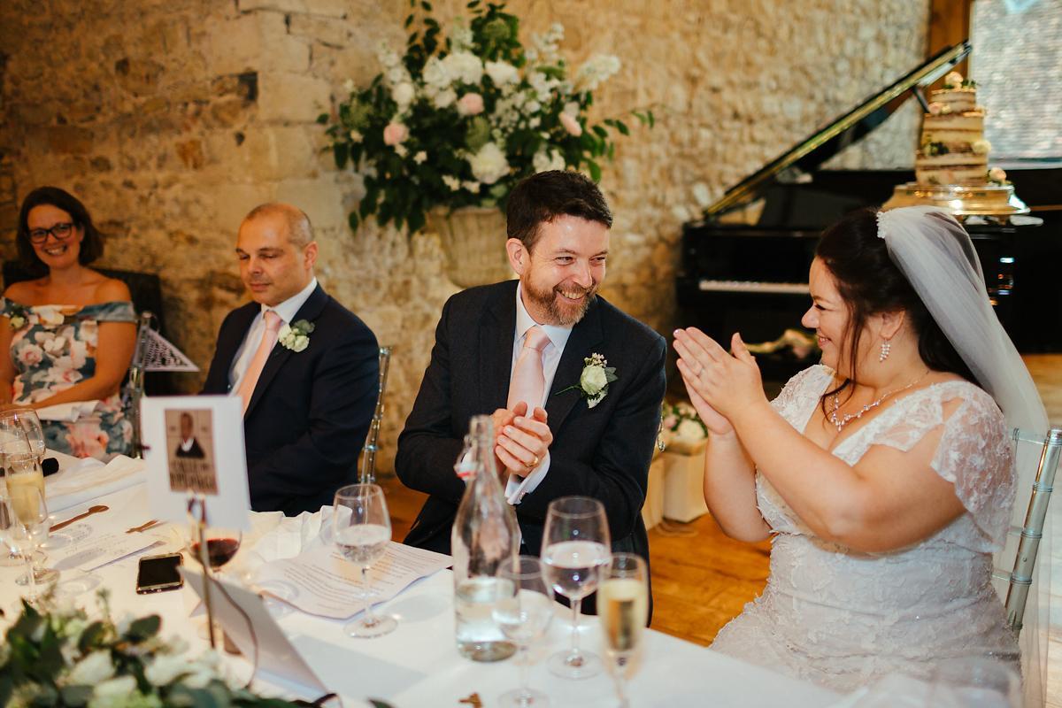 Notely Abbey Wedding speeches