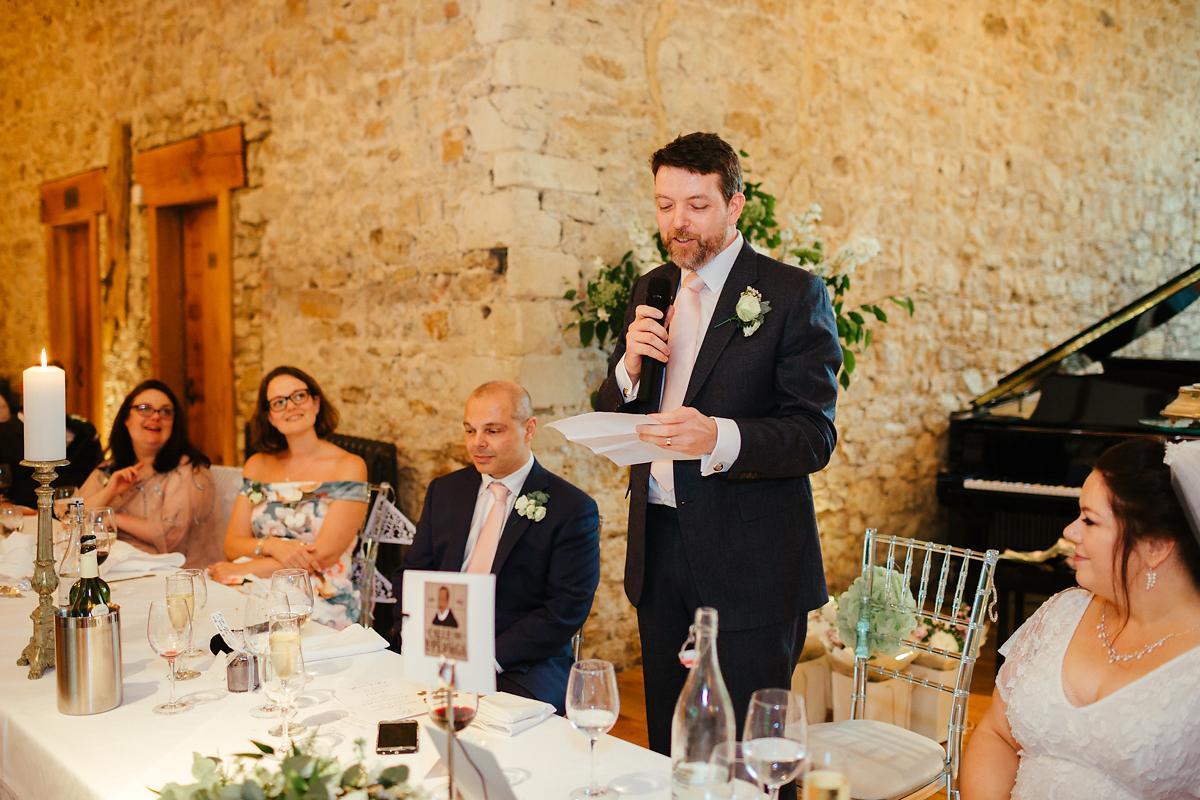Notely Abbey Wedding speeches photography