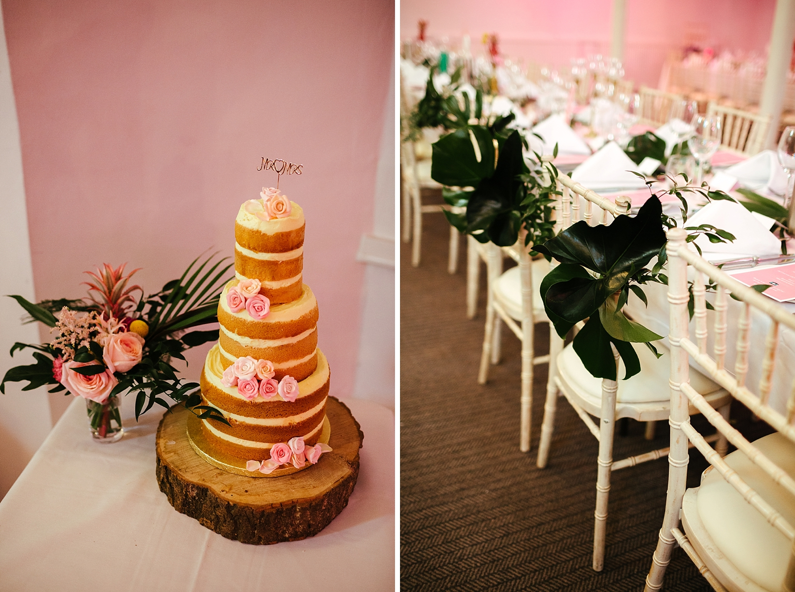 Tropical Glam wedding table decorations