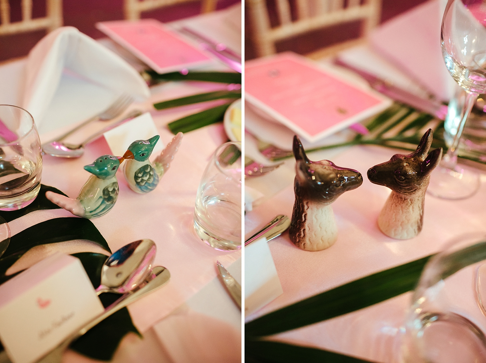 Tropical Glam wedding table decorations photo