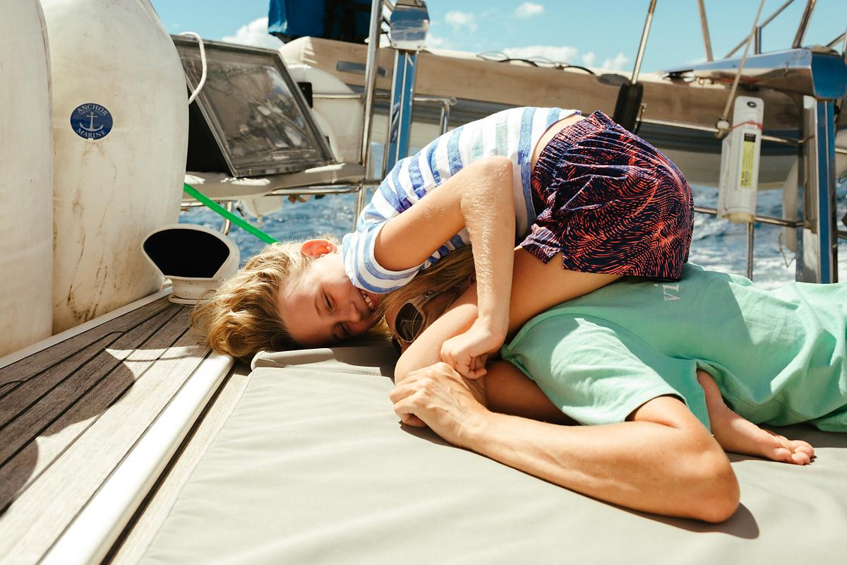 Life on sailing boat as a family