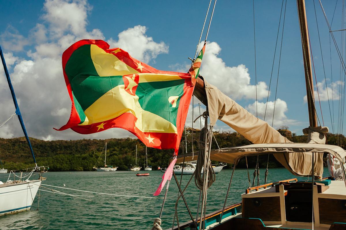 Grenada flag Caribbean