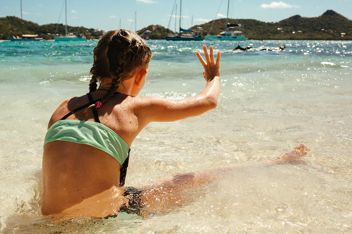 Snorkelling with kids in the Caribbean