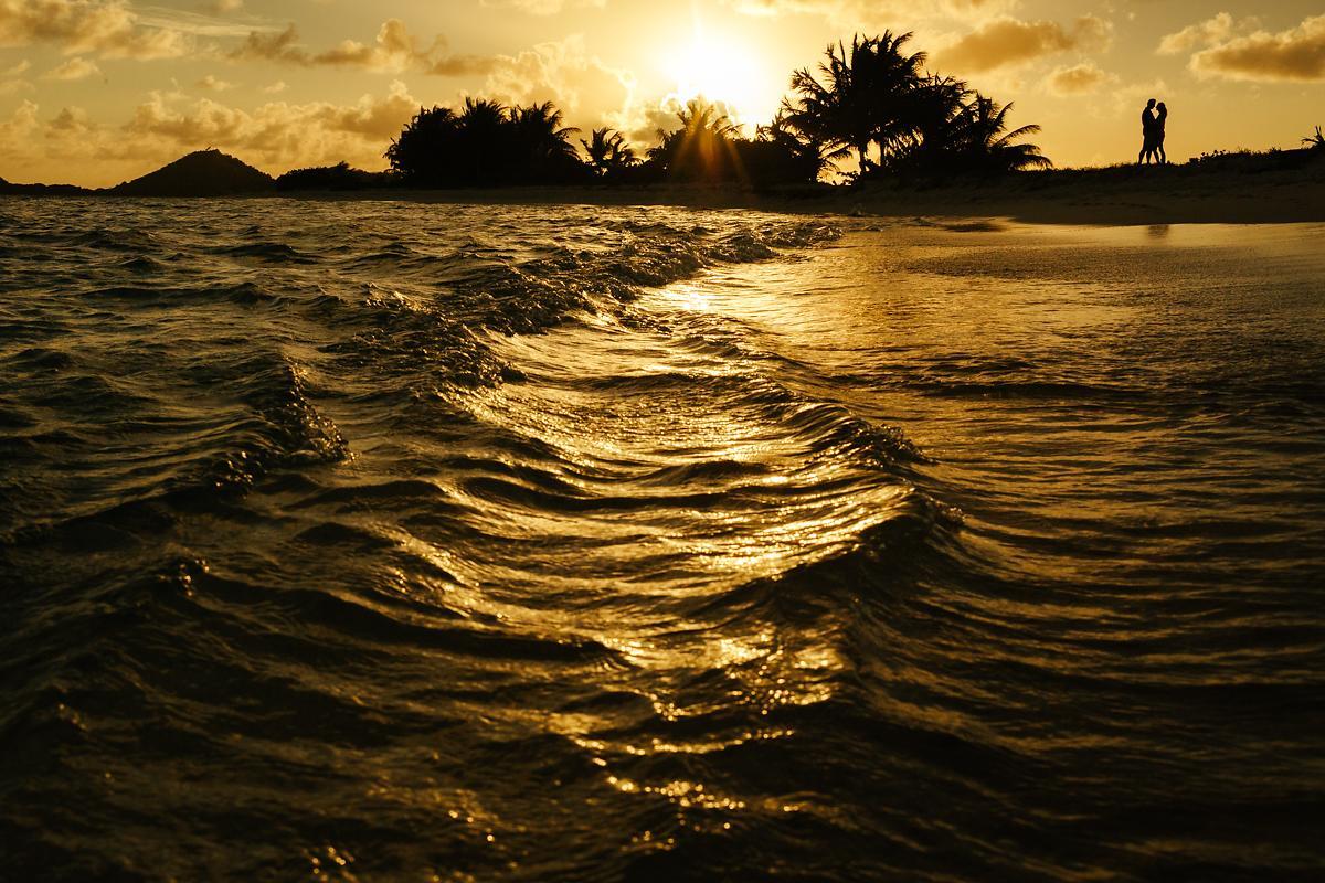 Sandy Island sunset in the Caribbean