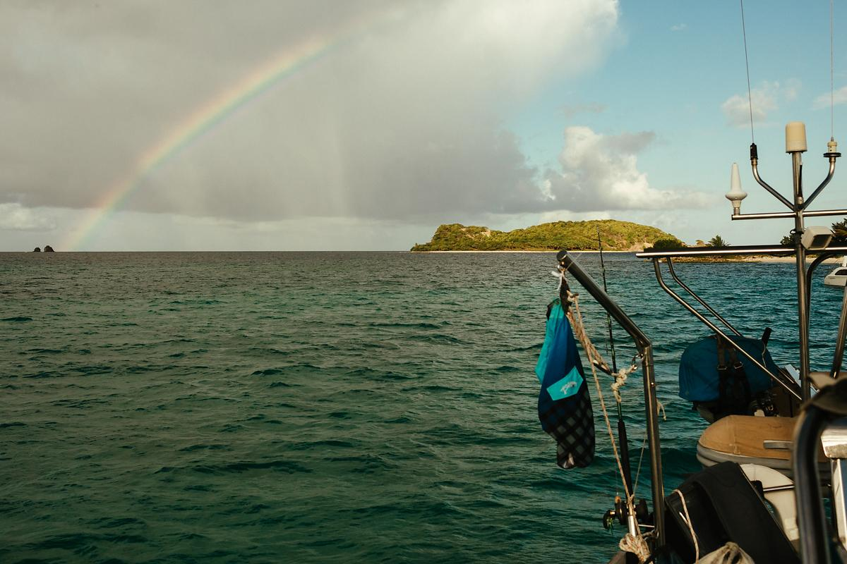 Rainbow in Sandy Island