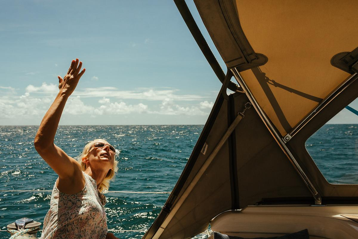 Family life on sailing boat Britican