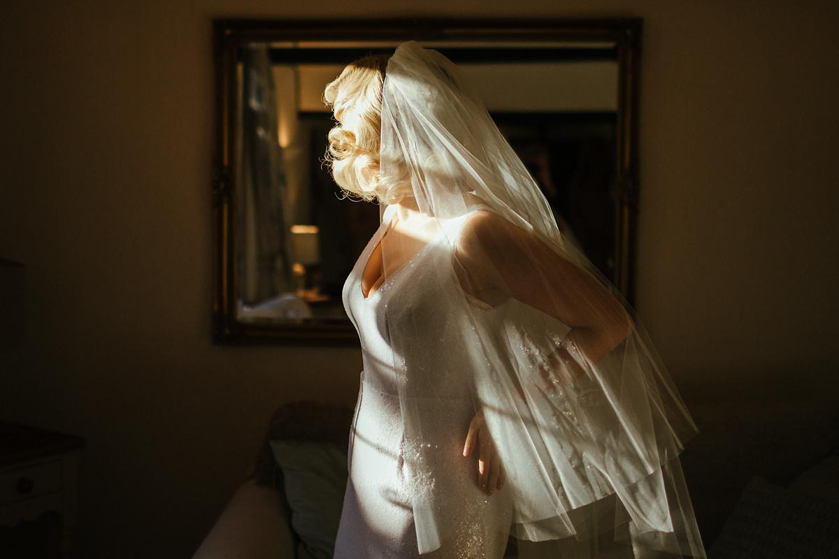 Glam bridal getting ready photography