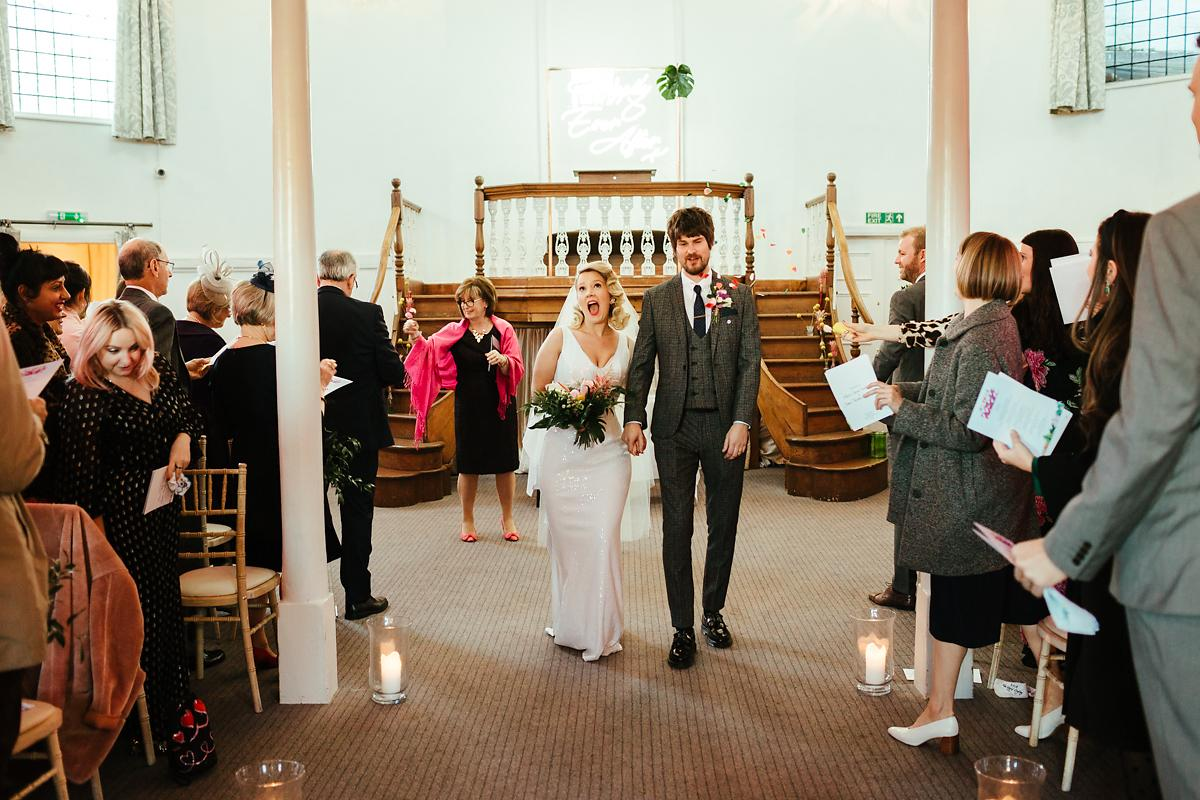 Glam wedding photography in Kings Chapel