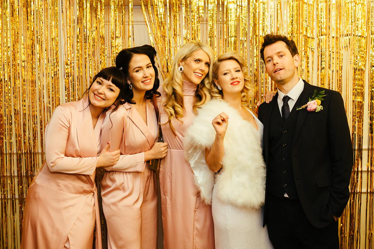 Pink glam bridal party in Old Amersham
