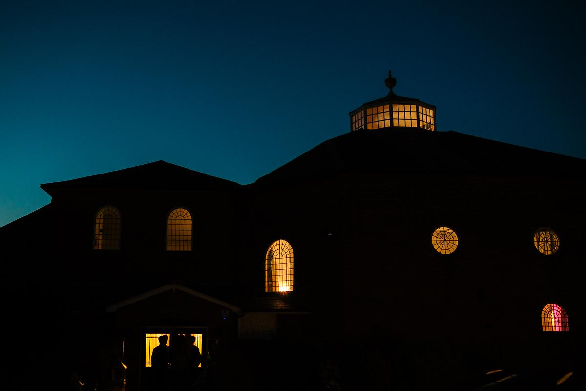 Kings Chapel at night time view