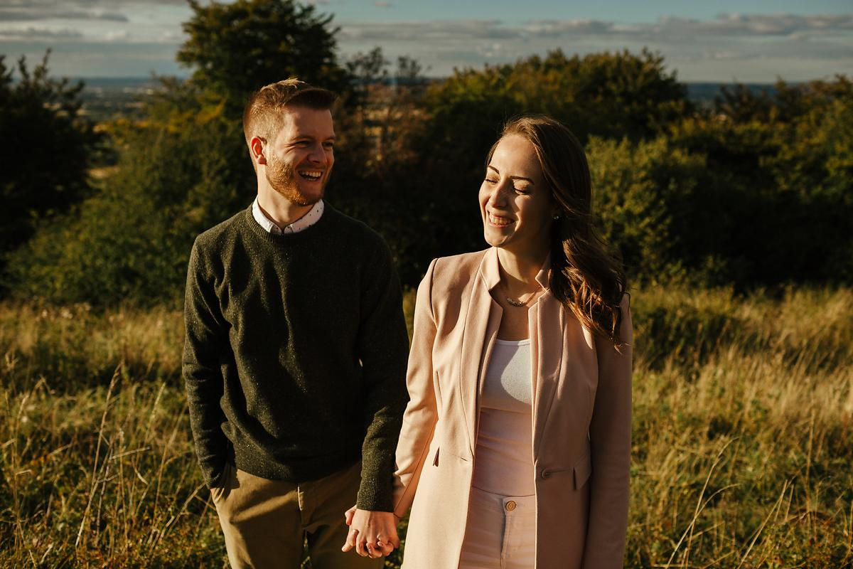 Relaxed pre-wedding photography