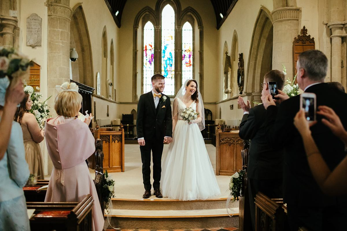 Haddenham St Marys church wedding ceremony photos