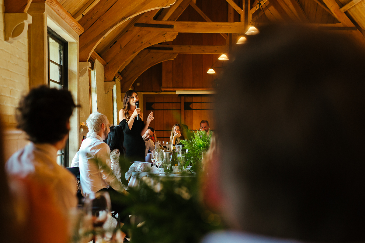 Wedding speeches at there Dairy Waddesdon