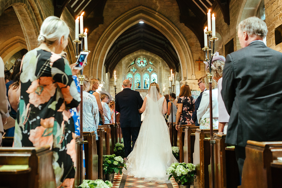 Wedding ceremony at Slaughters village church