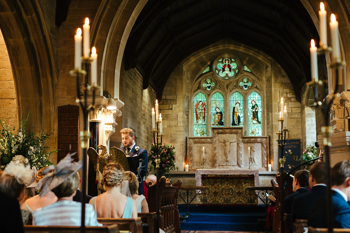 Wedding photography at Slaughters village church