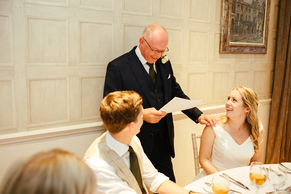 Wedding speeches at Slaughters Manor House