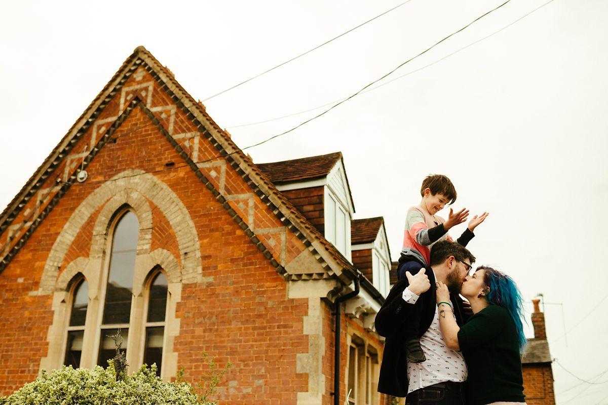 Creative family outdoor photos