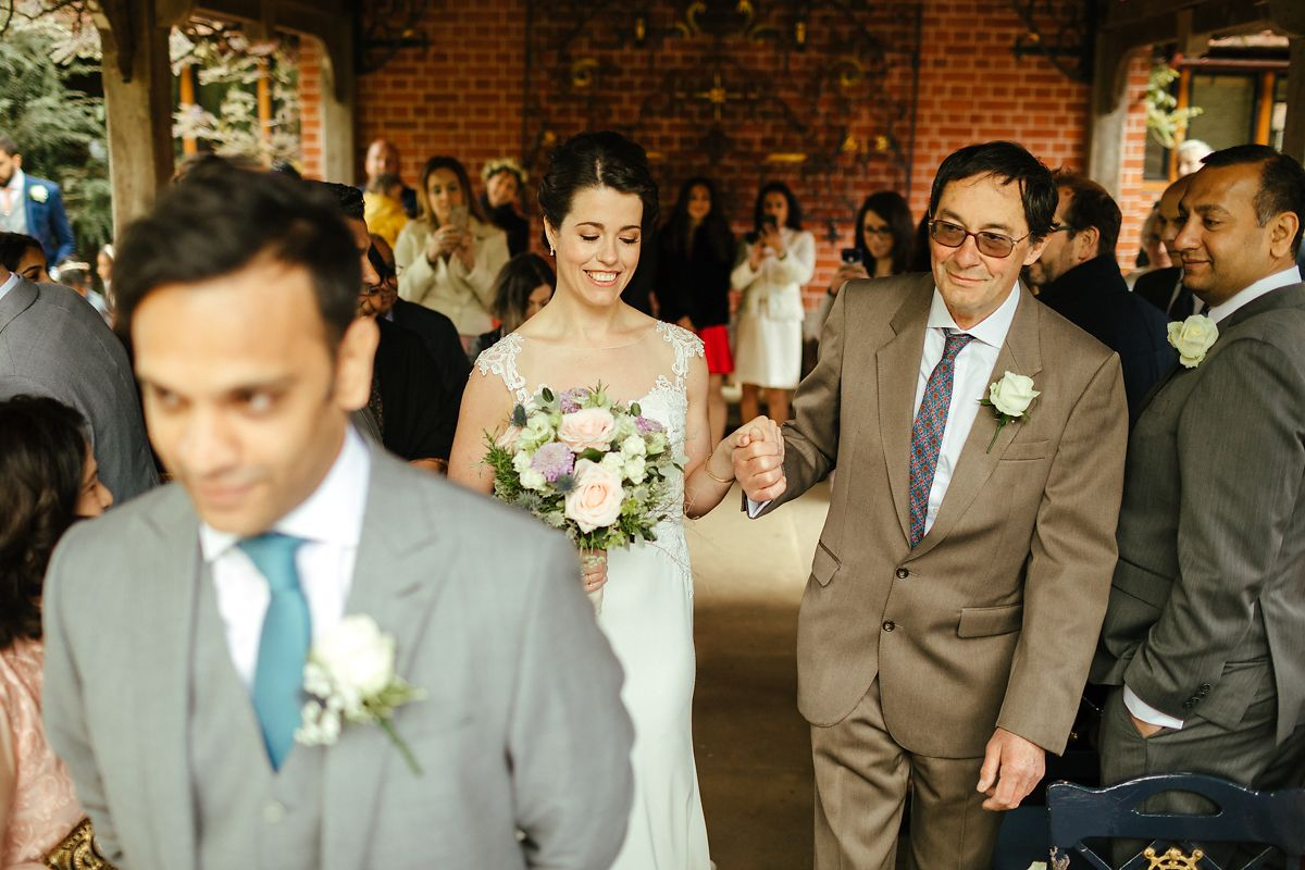 English Asian wedding ceremony in Waddesdon Dairy