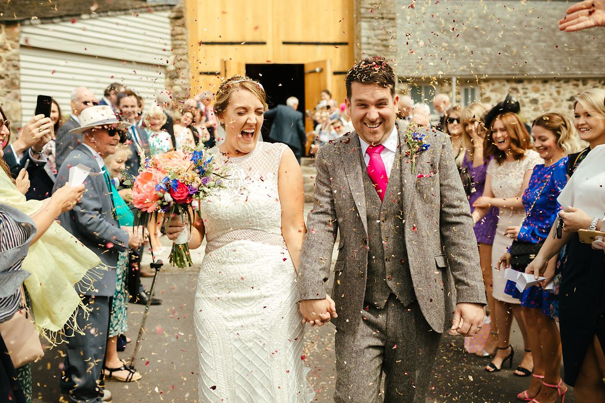 The Great Barn wedding confetti