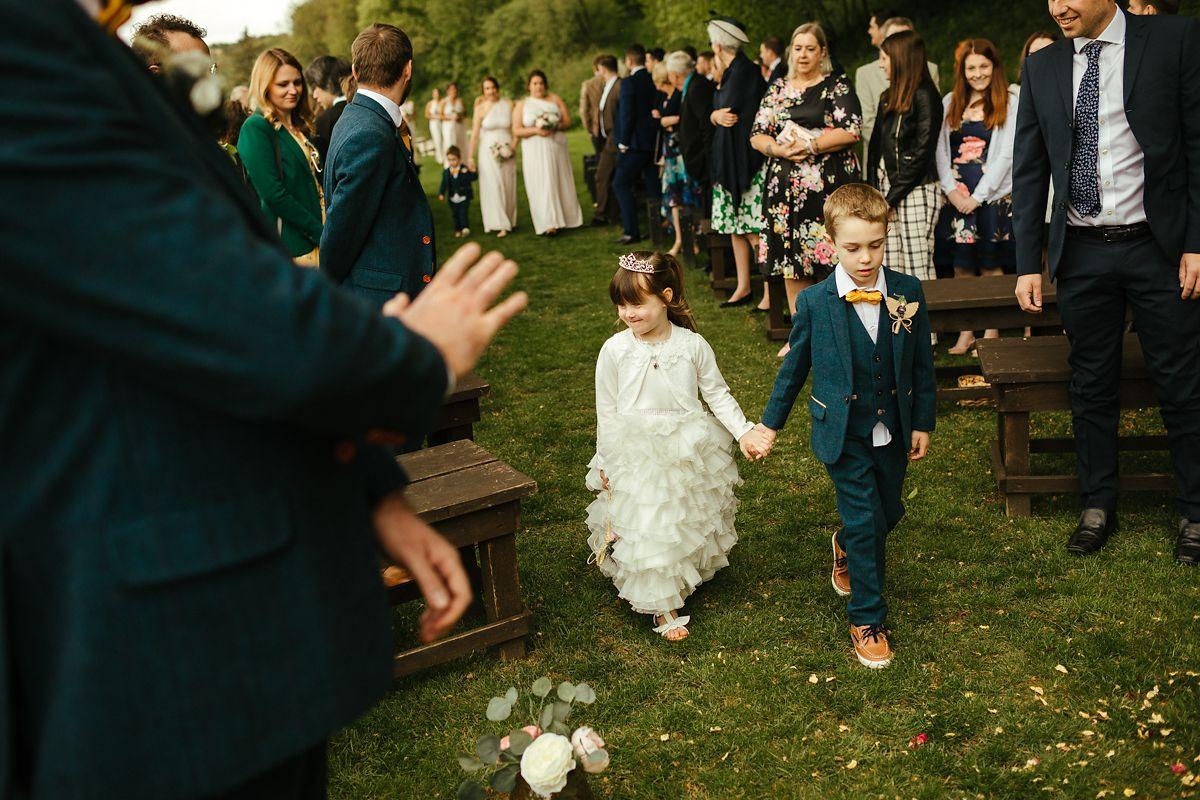 Outdoor wedding venue in England