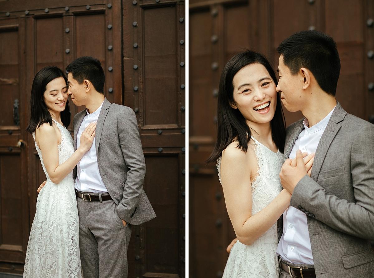 Stylish pre-wedding photos in Cambridge
