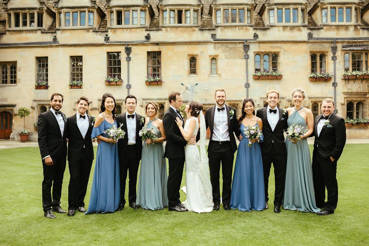 Wedding group photos at Brasenose college