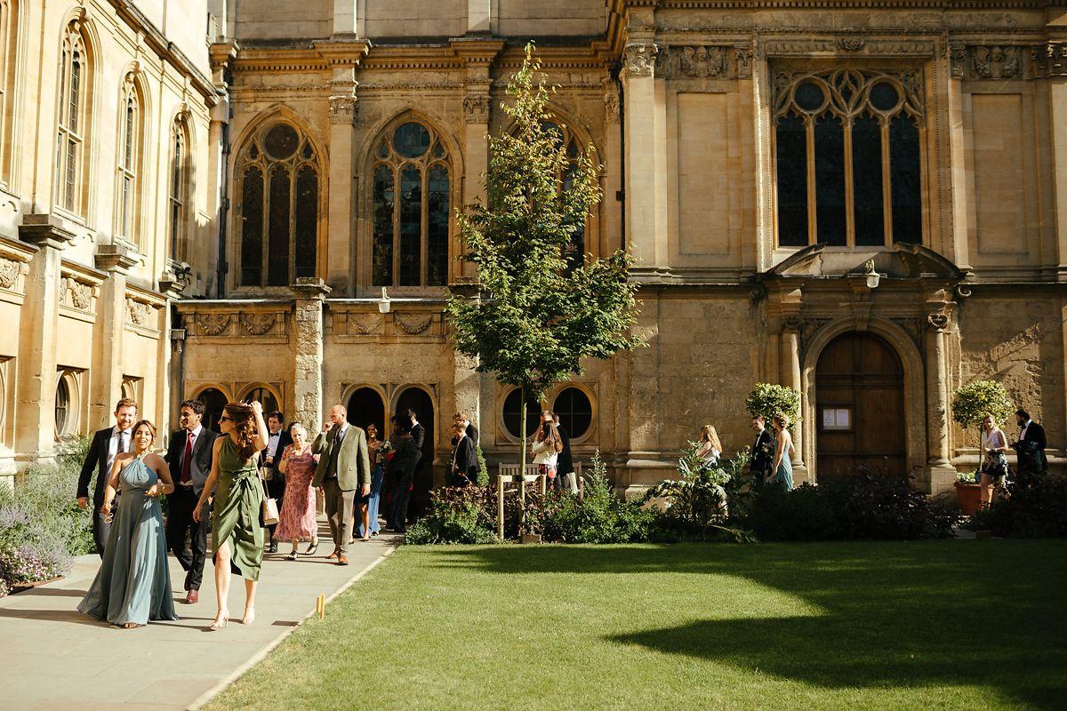 Oxford Brasenose College wedding photos