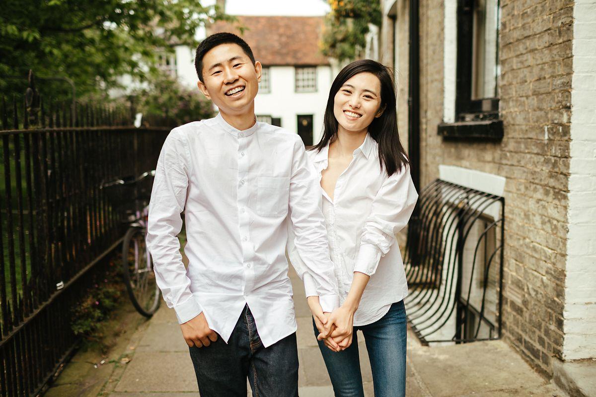 Modern Cambridge Pre-Wedding Photoshoot