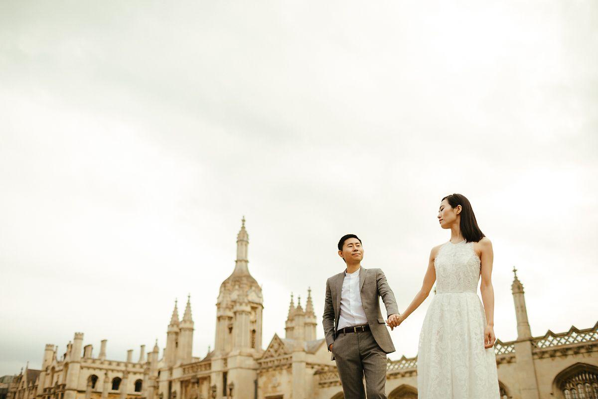 Modern Cambridge pre-wedding