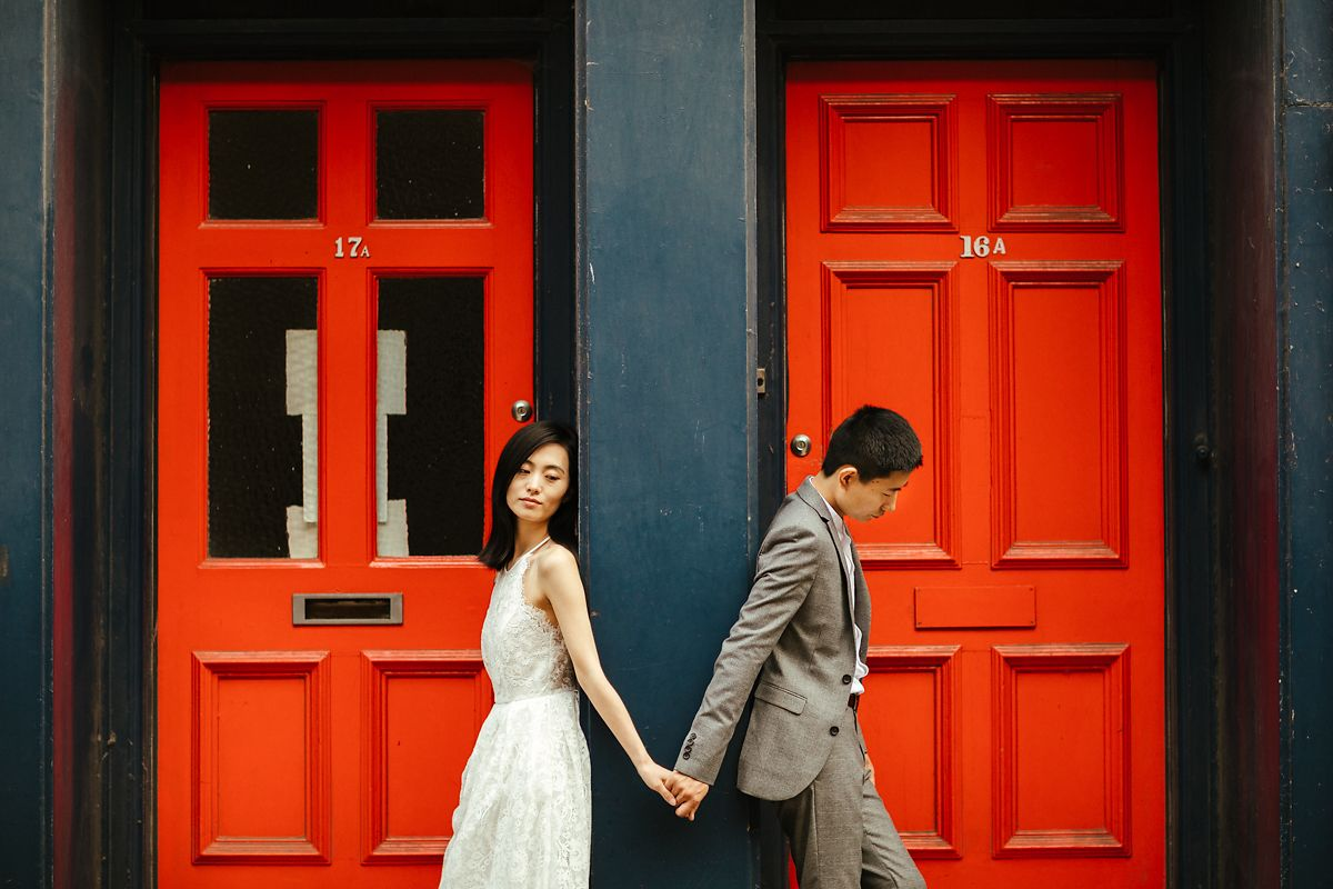 Modern and stylish Cambridge prewedding photography