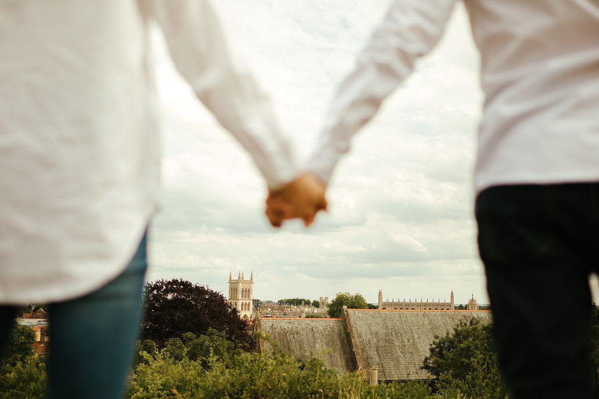 Cambridge Castle Mound pre-wedding photos
