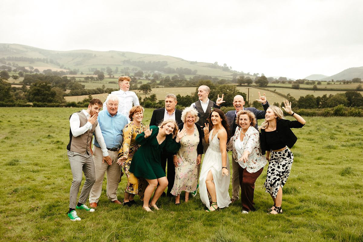 Barnutopia glamping wedding family photos