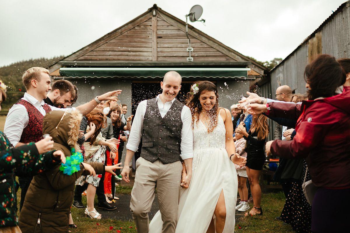 Glamping style wedding photography