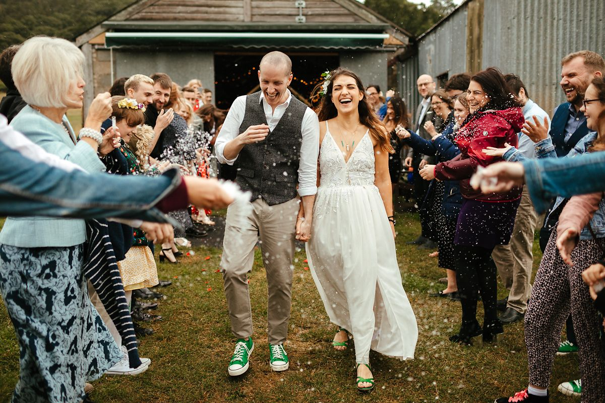 Barnutopia wedding confetti photo