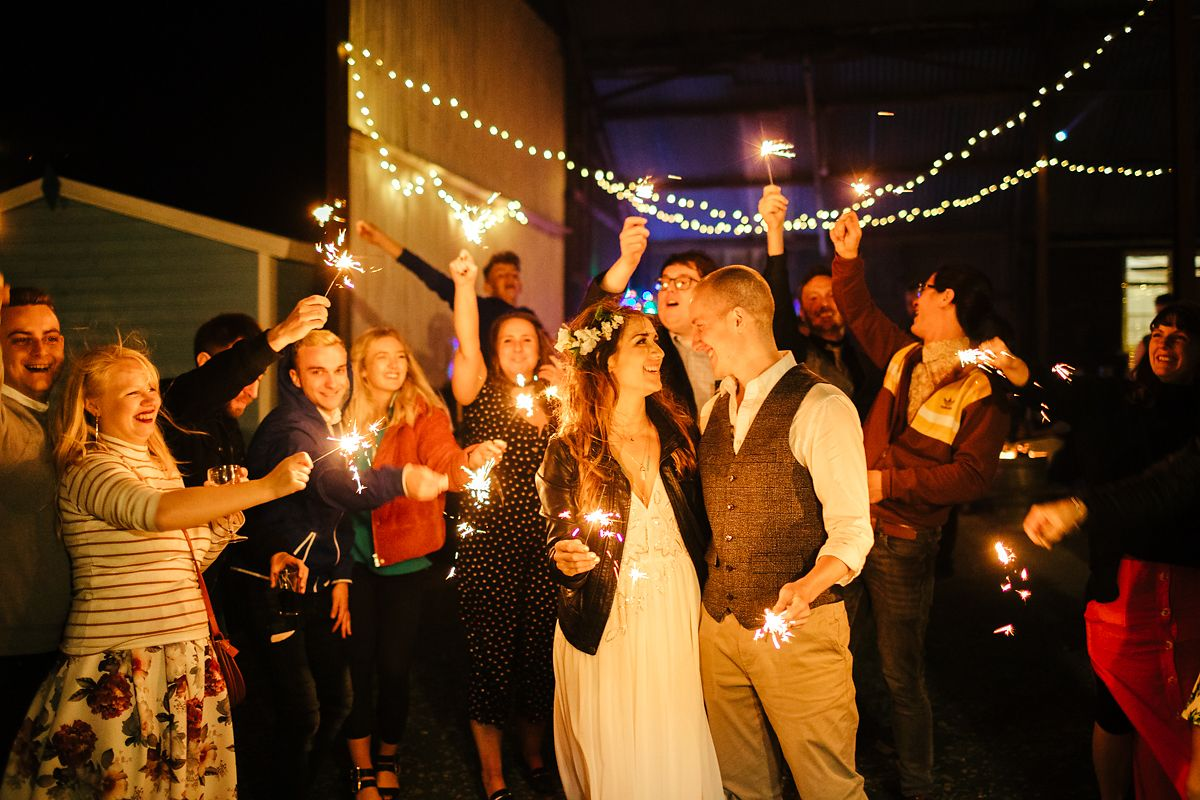 Sparklers Barnutopia wedding venue