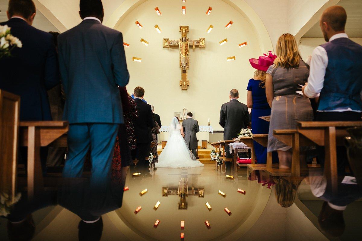 Creative Catholic Church wedding ceremony