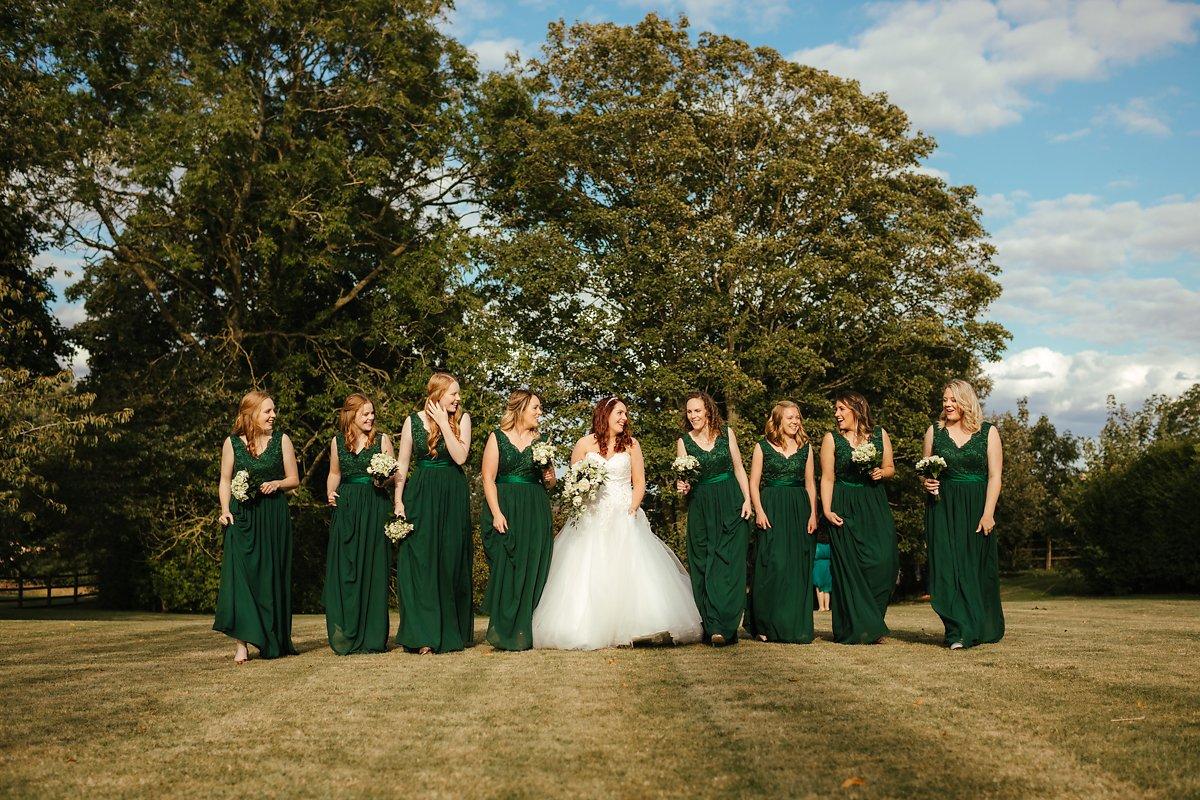 Green sleeveless bridesmaids dresses