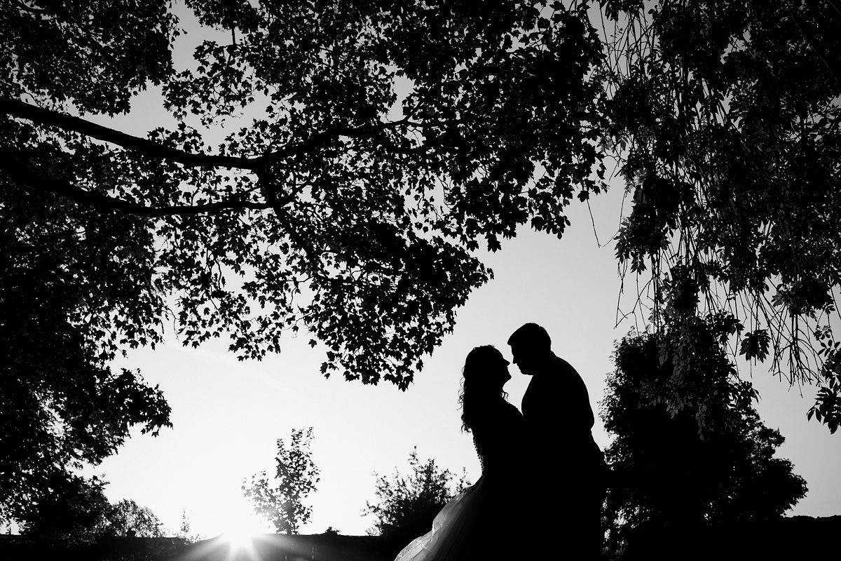 Black and white Creslow Manor Wedding Photography