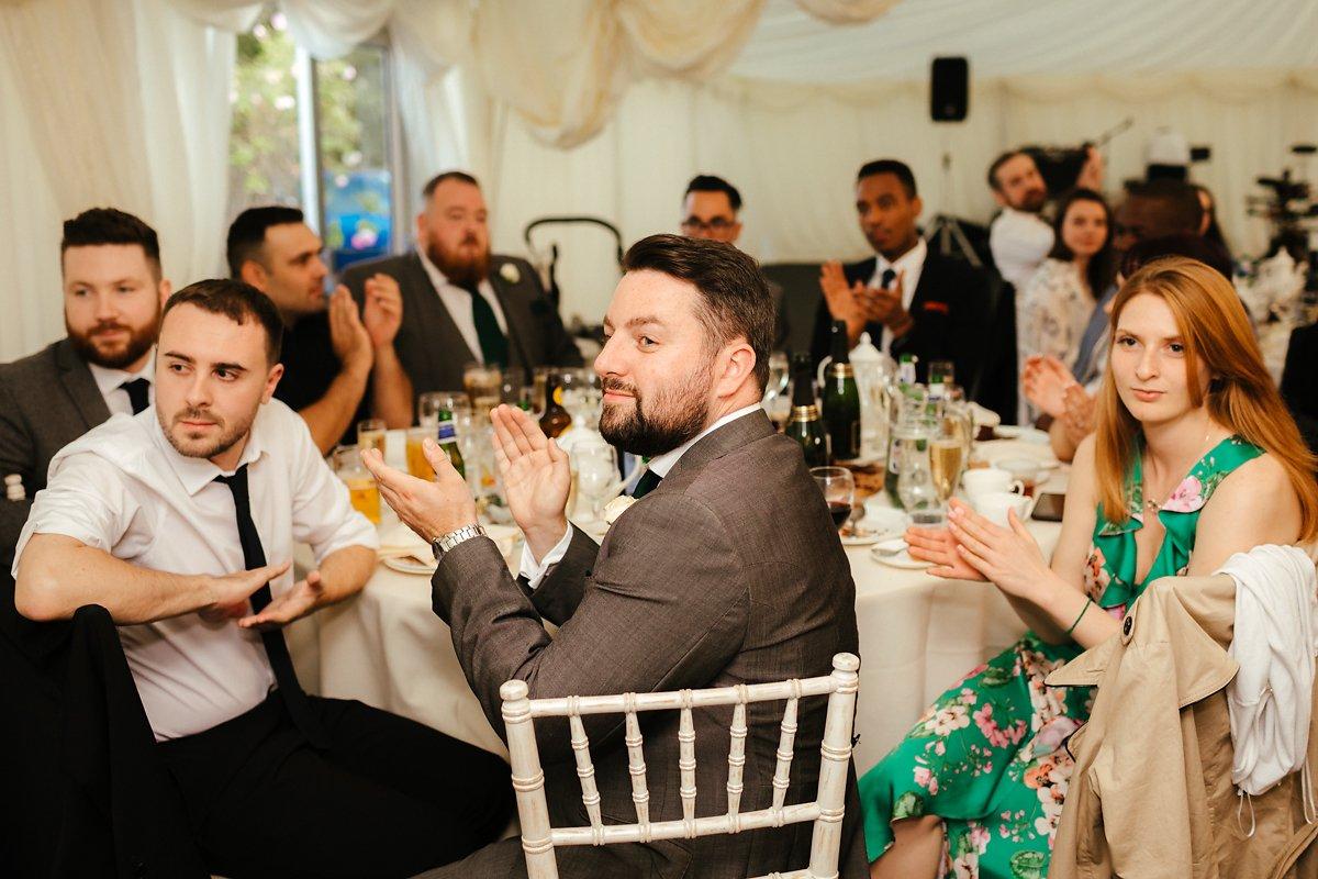 Wedding speeches at Creslow Manor