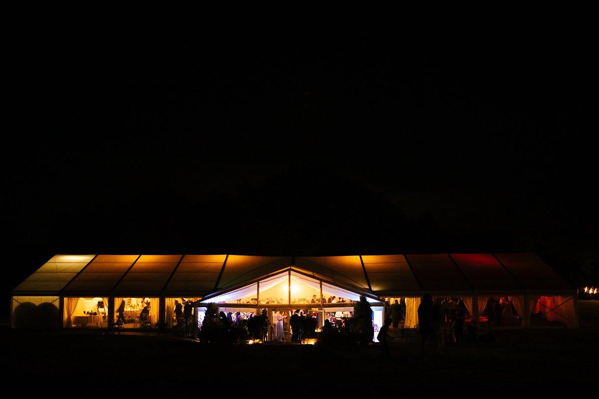 Night shot of Creslow Manor